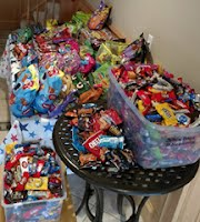 300 pounds of candy!