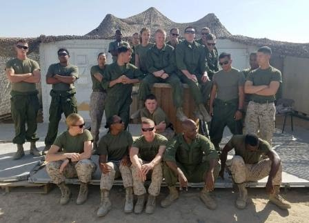 Marines in Kuwait who received our packages.